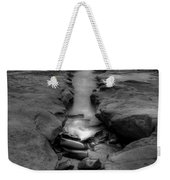Horseshoes Beach  Black And White Weekender Tote Bag