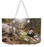 Horsethief Falls Sunburst - Cripple Creek Colorado Weekender Tote Bag