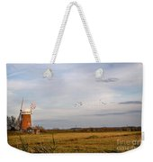 Horsey Windmill In Autumn Weekender Tote Bag