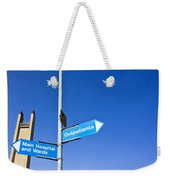 Hospital Signs Weekender Tote Bag by Tom Gowanlock