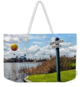 Hot Air Balloon And Old Key West Port Orleans Signage Disney World Weekender Tote Bag
