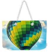 Hot Air Balloon Checkerboard Weekender Tote Bag