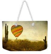 Hot Air Balloon Flight Over The Southwest Desert Fine Art Print  Weekender Tote Bag