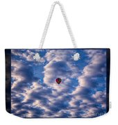 Hot Air Balloon In A Cloudy Sky Abstract Photograph Weekender Tote Bag