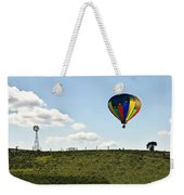 Hot Air Balloon In The Farmlands Weekender Tote Bag