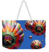 Hot Air Balloon Panoramic Weekender Tote Bag by Edward Fielding