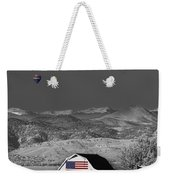 Hot Air Balloon With Usa Flag Barn God Bless The Usa Bwsc Weekender Tote Bag