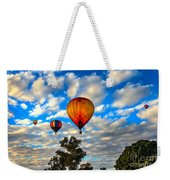 Hot Air Balloons Over Trees Weekender Tote Bag