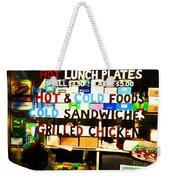 Hot And Cold Foods Weekender Tote Bag