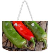 Hot And Spicy - Chiles On The Grill Weekender Tote Bag