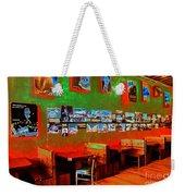 Hot Bar-glow Weekender Tote Bag