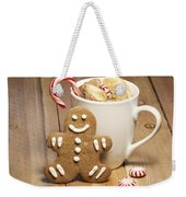 Hot Chocolate Toasted Marshmallows And A Gingerbread Cookie Weekender Tote Bag