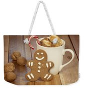 Hot Cocoa And Gingerbread Cookie Weekender Tote Bag by Juli Scalzi