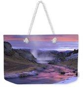 Hot Creek At Sunset Sierra Nevada Weekender Tote Bag