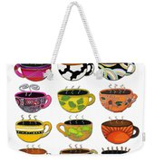 Hot Cuppa Whimsical Colorful Coffee Cup Designs By Romi Weekender Tote Bag