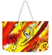 Hot Moving Lines And Dots Abstract Weekender Tote Bag