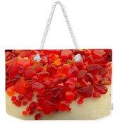 Hot Orange Beach Glass Weekender Tote Bag