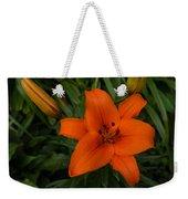 Hot Orange Lily  Weekender Tote Bag