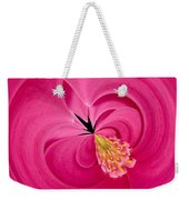 Hot Pink And Round Weekender Tote Bag by Anne Gilbert