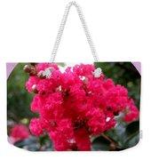 Hot Pink Crepe Myrtle Blossoms Weekender Tote Bag