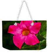 Hot Pink Dipladenia Weekender Tote Bag