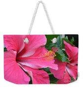 Hot Pink Hibiscus 2 Weekender Tote Bag