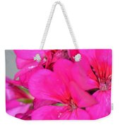 Hot Pink In February Weekender Tote Bag