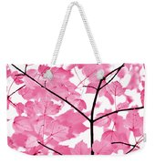 Hot Pink Leaves Melody Weekender Tote Bag