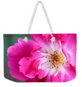Hot Pink Rose Weekender Tote Bag