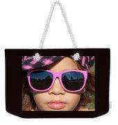 Hot Pink Sunglasses Weekender Tote Bag