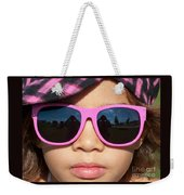Hot Pink Sunglasses Weekender Tote Bag