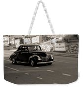 Hot Rod On The Street Weekender Tote Bag