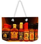 Hot Sauce Display Shelf Three Weekender Tote Bag