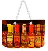 Hot Sauce Display Shelf Two Weekender Tote Bag