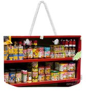 Hot Sauce On Store Shelf Weekender Tote Bag