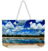 Hot Springs And Clouds Weekender Tote Bag