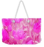 Hot Stuff   In Your Face Pink Tulips Weekender Tote Bag