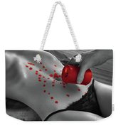 Hot Wax Foreplay With Red Candle Weekender Tote Bag