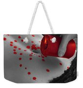 Hot Wax From Candle Dripping On Woman Body Weekender Tote Bag