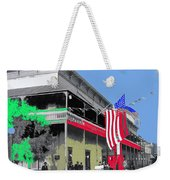 Hotel  Orndorff Colored American Flags Tucson Arizona Circa 1915-2012 Weekender Tote Bag