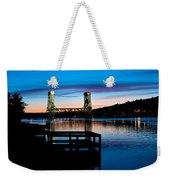 Houghton Bridge Sunset Weekender Tote Bag