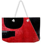 Hour Glass Guitar 4 Colors 1 - Tetraptych - Red Corner - Music - Abstract Weekender Tote Bag