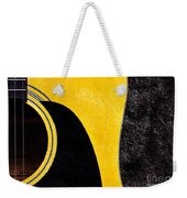 Hour Glass Guitar 4 Colors 1 - Tetraptych - Yellow Corner - Music - Abstract Weekender Tote Bag