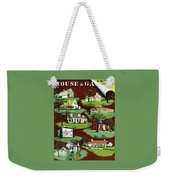 House & Garden Cover Illustration Of 9 Houses Weekender Tote Bag