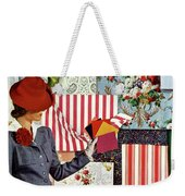 House & Garden Cover Illustration Of A Woman Weekender Tote Bag
