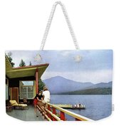 House & Garden Cover Of Women Sitting On The Deck Weekender Tote Bag
