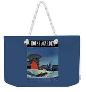 House And Garden Christmas Decoration Cover Weekender Tote Bag