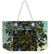 House And Garden Cover Featuring Flowers Growing Weekender Tote Bag