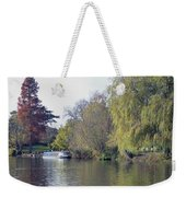 House Boat On River Avon Weekender Tote Bag