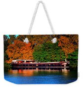 House Boat River Barge In France Weekender Tote Bag